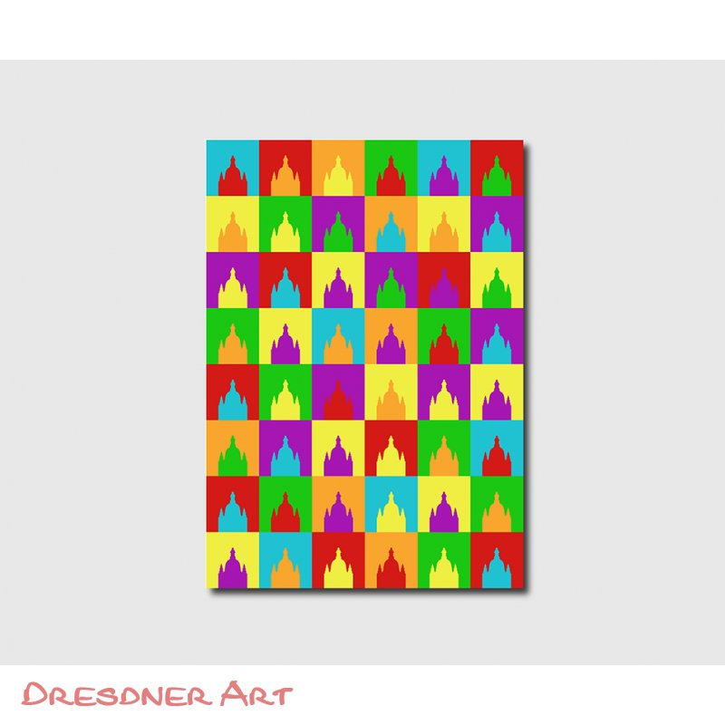 dresdner frauenkirche als poster bunt pop art versch gr en dresdner art moderne dresden. Black Bedroom Furniture Sets. Home Design Ideas