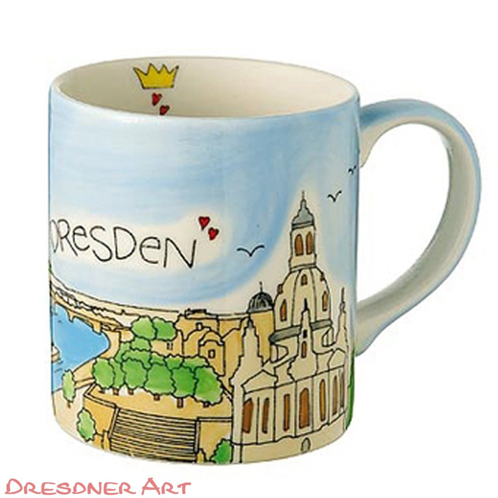 tasse dresden august handbemalt souvenir mila tasse dresdner art moderne dresden und. Black Bedroom Furniture Sets. Home Design Ideas