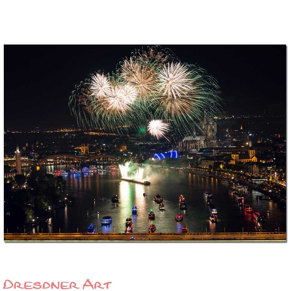 Poster Kölner Lichter® Light up the Sky Din A3 (42,0 x 29,7 cm)